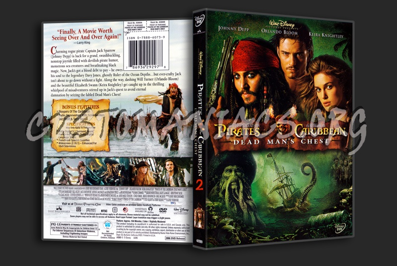 Pirate Of The Caribbean Dead Man's Chest dvd cover