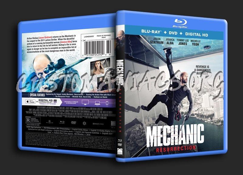 Mechanic Resurrection blu-ray cover