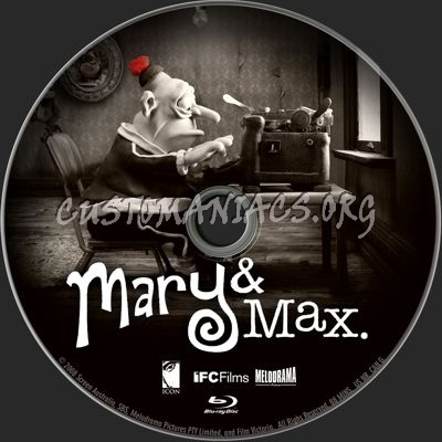Mary And Max Mary Max Blu Ray Label Dvd Covers Labels By Customaniacs Id 256001 Free Download Highres Blu Ray Label