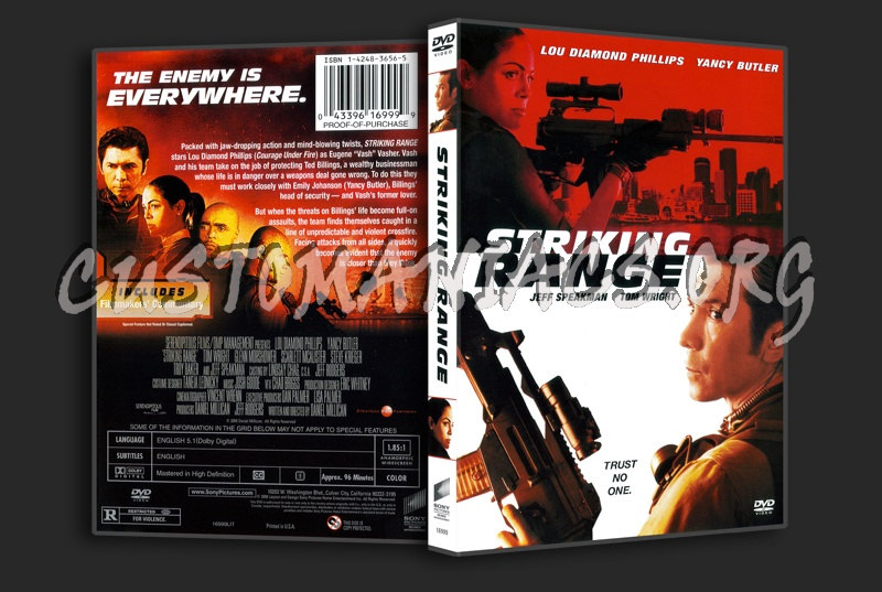 Striking Range dvd cover