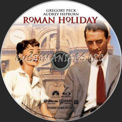 Roman Holiday blu-ray label