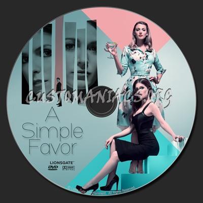A Simple Favor dvd label