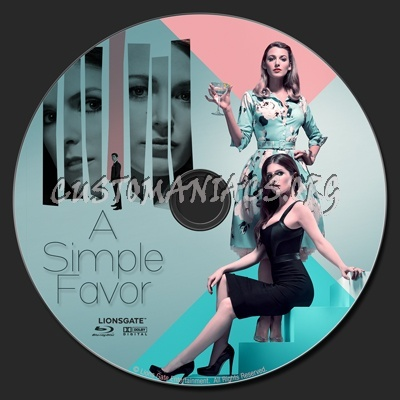 A Simple Favor blu-ray label