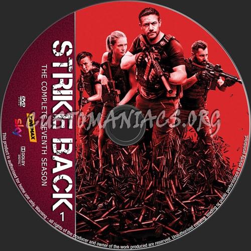 Strike Back Season 7 dvd label