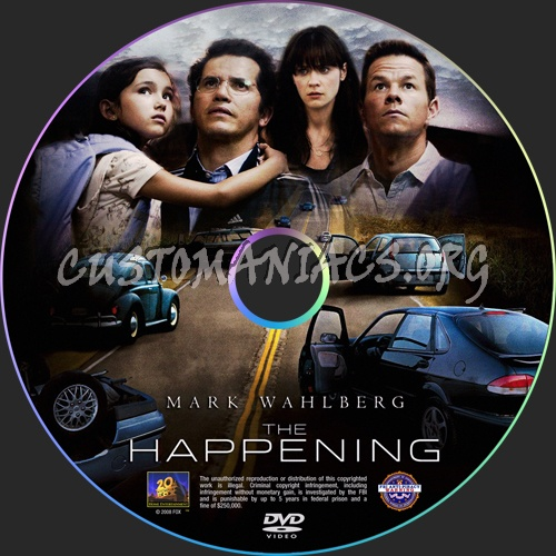 The Happening dvd label