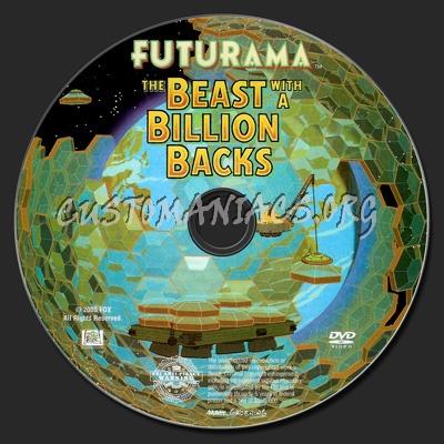 Futurama: The Beast with a Billion Backs dvd label