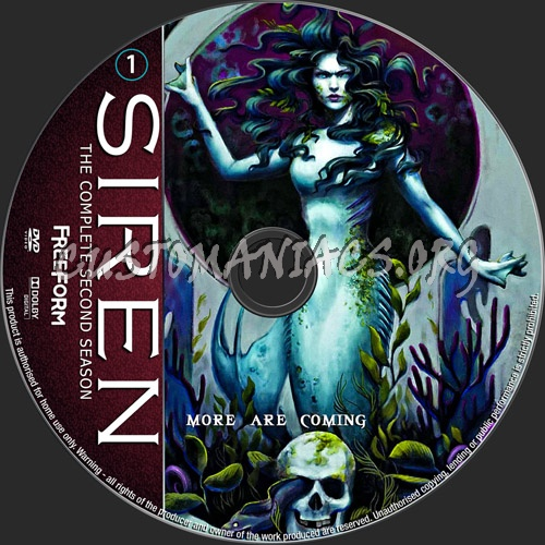 Siren Season 2 dvd label