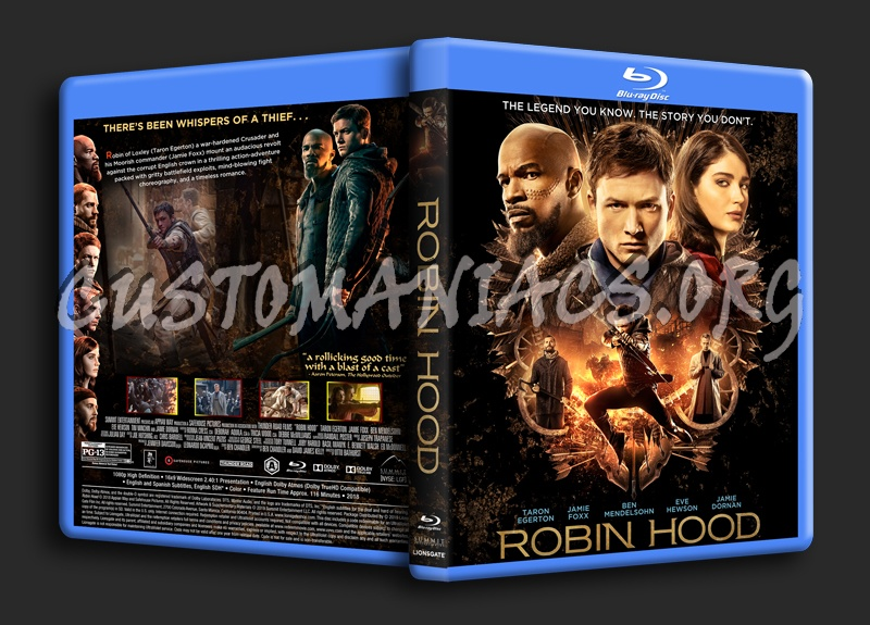 Robin Hood (2018) blu-ray cover