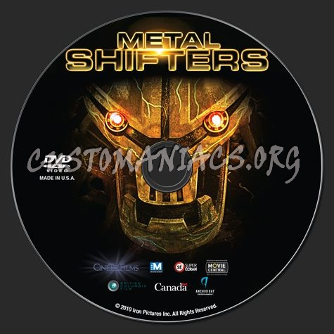Metal Shifters Dvd Label