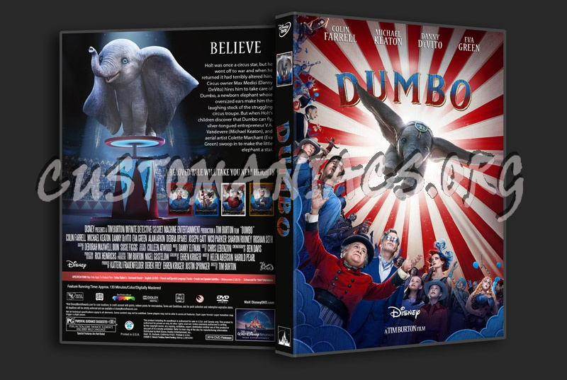 Dumbo 2019 dvd cover