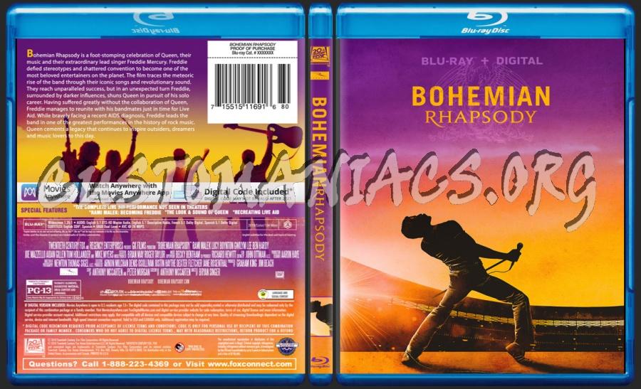 Bohemian Rhapsody blu-ray cover