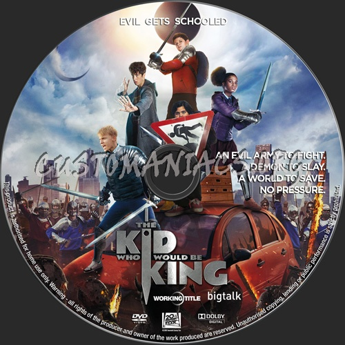 The Kid Who Would Be King dvd label