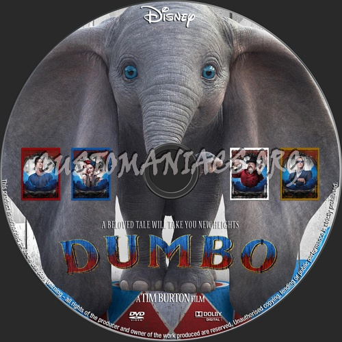 Dumbo 2019 dvd label