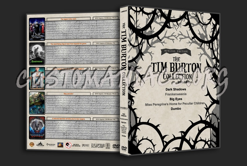 The Tim Burton Collection (5) - Volume 4 dvd cover