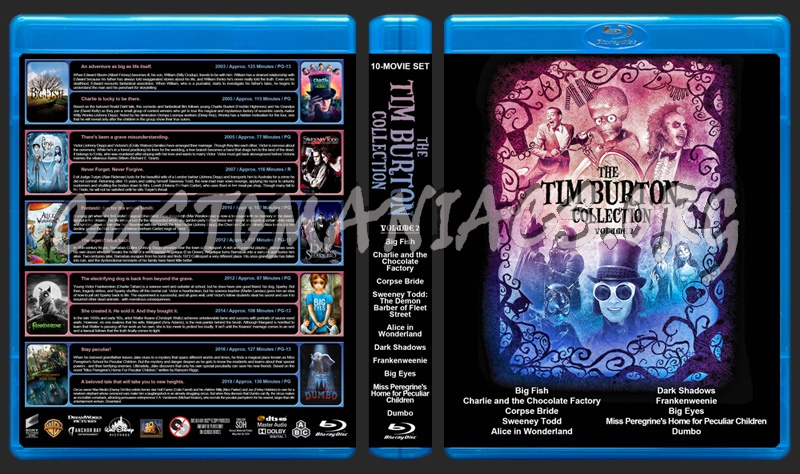 The Tim Burton Collection (10) - Volume 2 blu-ray cover