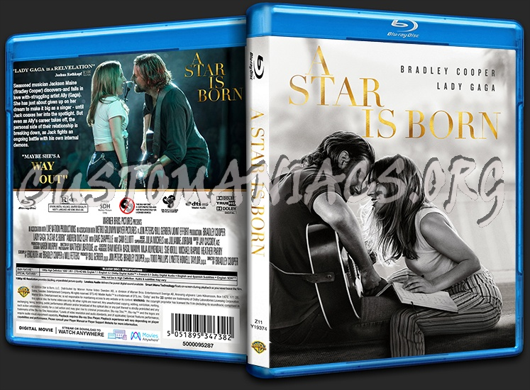 A Star is Born blu-ray cover