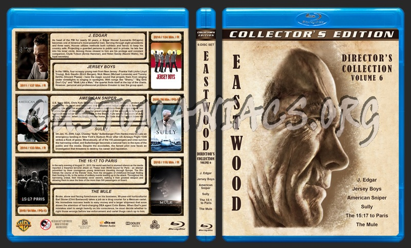 Clint Eastwood: Director's Collection - Volume 6 blu-ray cover
