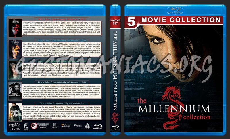 The Millennium Collection blu-ray cover
