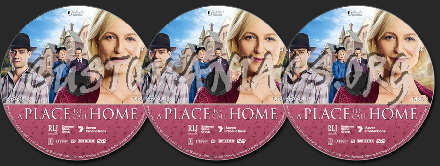 A Place to Call Home - Season 3 dvd label