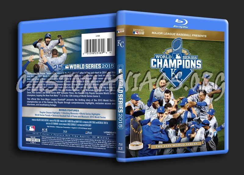 MLB 2015 World Series Champions blu-ray cover