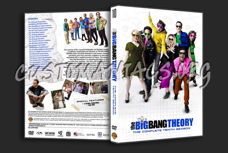The Big Bang Theory Season 10 dvd cover