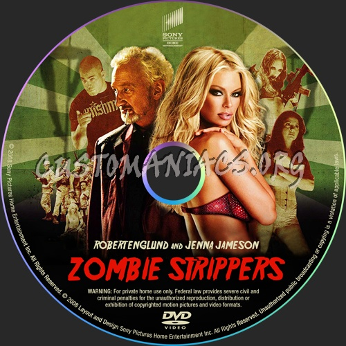 Zombie Strippers dvd label
