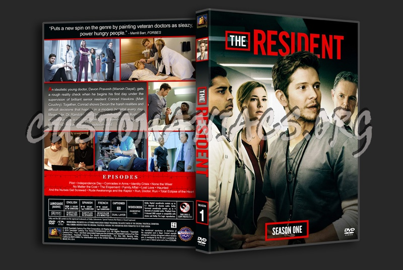 The Resident - Season 1 dvd cover