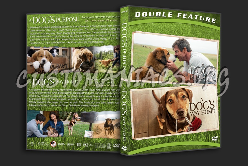 A Dog's Purpose / A Dog's Way Home Double Feature dvd cover