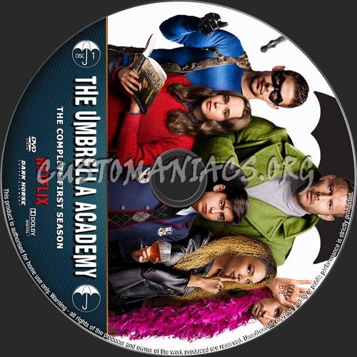 The Umbrella Academy Season 1 dvd label