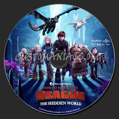 How To Train Your Dragon: The Hidden World blu-ray label
