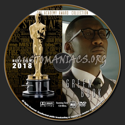 Academy Awards Collection - Green Book dvd label