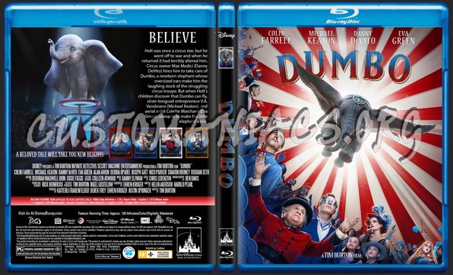 Dumbo 2019 blu-ray cover