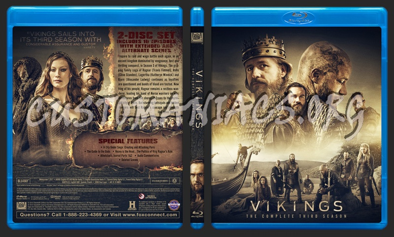Vikings - Season 3 blu-ray cover - DVD Covers & Labels by