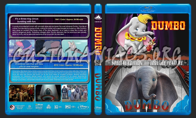 Dumbo Double Feature blu-ray cover