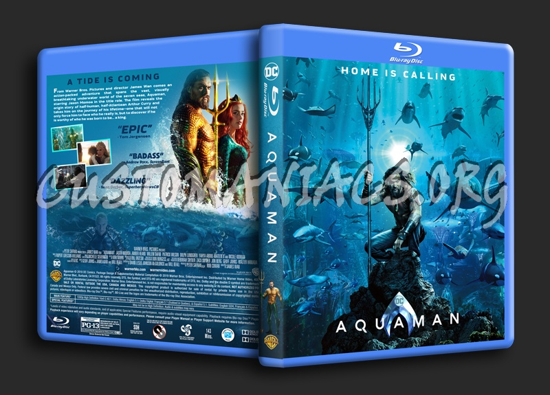 Aquaman (2018) blu-ray cover