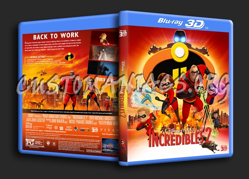 Incredibles 2 3D blu-ray cover