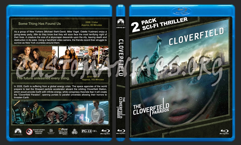 Cloverfield Double Feature blu-ray cover