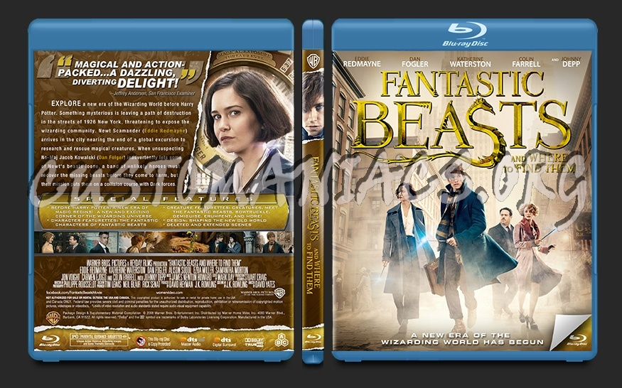 Fantastic Beasts PSD blu-ray cover