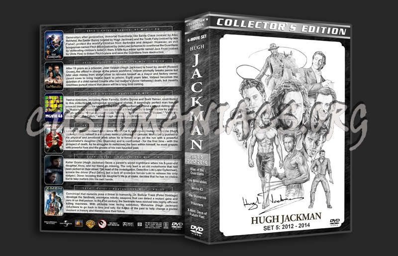Hugh Jackman Filmography - Set 5 (2012-2014) dvd cover