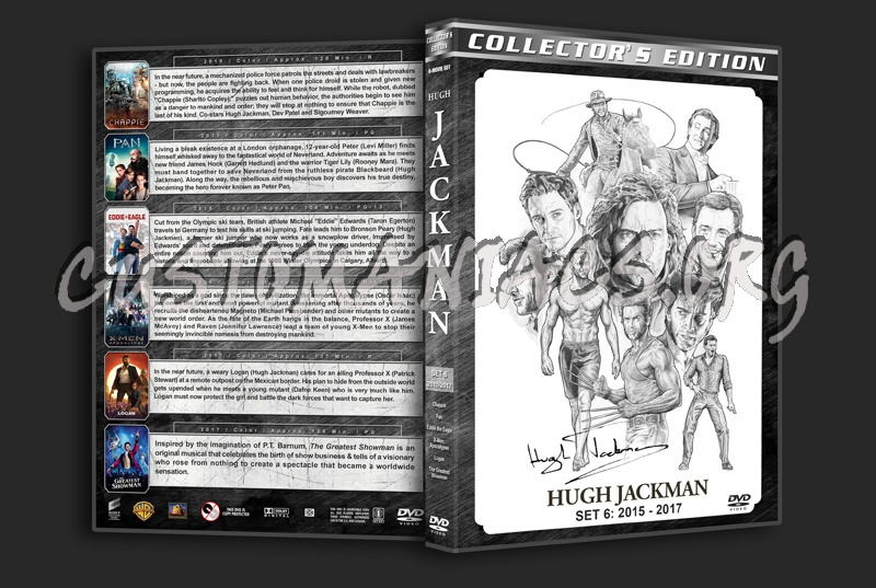 Hugh Jackman Filmography - Set 6 (2015-2017) dvd cover