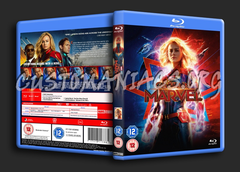 Captain Marvel blu-ray cover