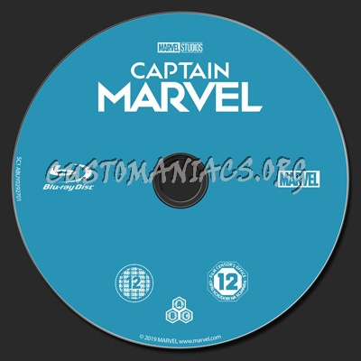 Captain Marvel blu-ray label