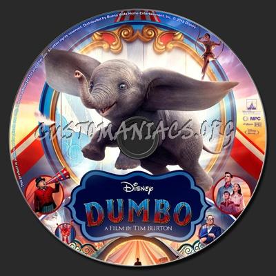 Dumbo (2019) blu-ray label