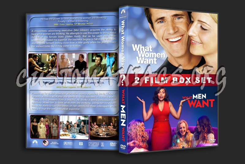 What Women/Men Want Double Feature dvd cover