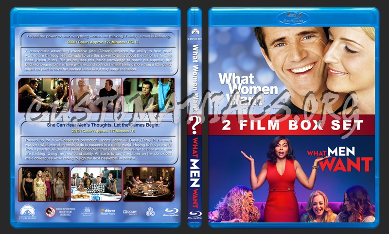 What Women/Men Want Double Feature blu-ray cover