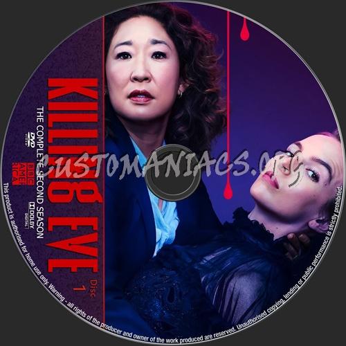Killing Eve Season 2 dvd label