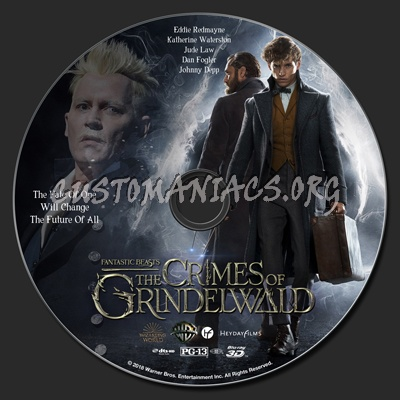 Fantastic Beasts: The Crimes Of Grindelwald 2D & 3D blu-ray label