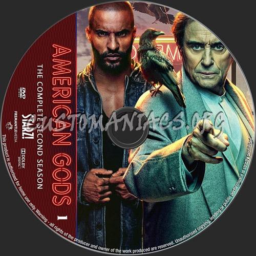 American Gods Season 2 dvd label