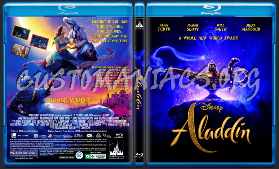 Aladdin(2019) blu-ray cover