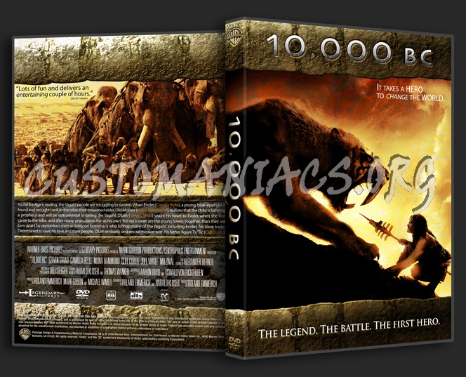 10,000 Bc dvd cover - DVD Covers & Labels by Customaniacs